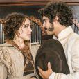Na novela 'Novo Mundo', Dom Pedro (Caio Castro) se casa com Leopoldina (Letícia Colin) por procuração, antes mesmo de conhecê-la pessoalmente