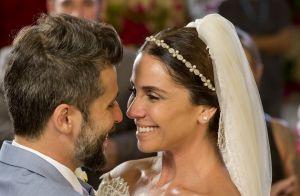 Novela 'Sol Nascente': Alice se casa com vestido de 38 metros de tecido. Fotos!