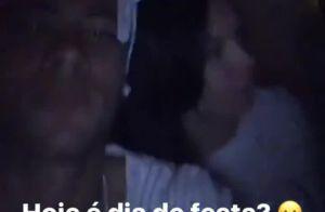 Vídeo: Neymar festeja com Thiaguinho e Fernanda Souza após vitória do Barcelona