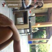 Juliana Paes, de maiô, canta hit de Marília Mendonça ao lado do pai. Vídeo!