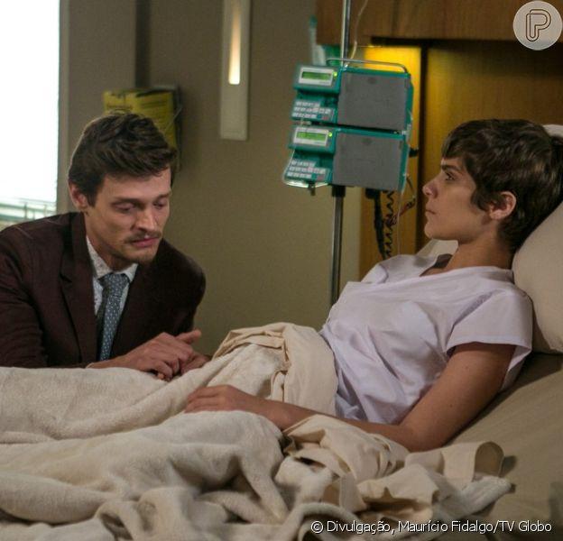 Letícia (Isabella Santoni) e Antonio (Pierre Baitelli) quase vão se beijar na última semana da novela 'A Lei do Amor'