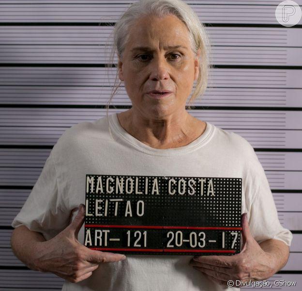 Magnólia (Vera Holtz) finalmente será presa depois de assassinar Élio (João Campos) na novela 'A Lei do Amor'