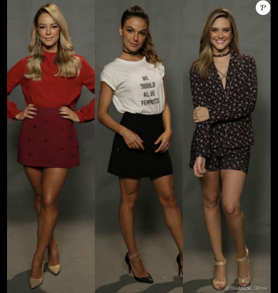 Paolla Oliveira, Isis Valverde, Juliana Paiva e outras famosas vão à coletiva de lançamento de 'A Força do Querer'. Veja os looks!