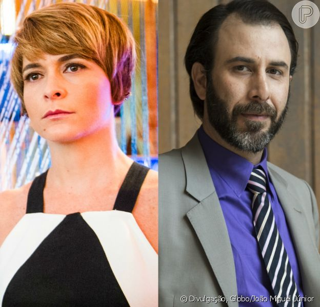 Helô (Claudia Abreu) ameaça matar Hércules (Danilo Granghéia) com caco de vidro na novela 'A Lei do Amor'