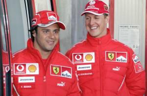 Michael Schumacher recebe visita de Felipe Massa: 'Ele é um grande homem'