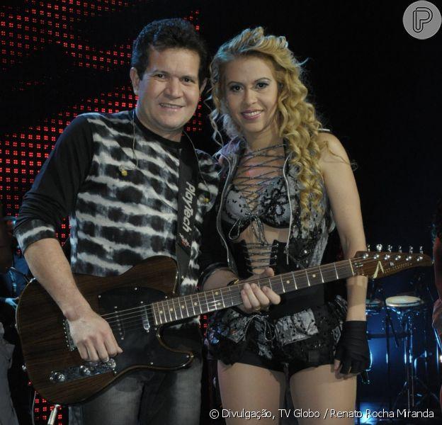 Ximbinha não descartou reatar casamento com Joelma, de quem separou em agosto de 2015, em entrevista ao programa Raul Gil deste sábado, 17 de março de 2017
