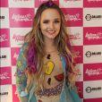 Depois de passar as férias em Orlando, nos Estados Unidos, Larissa Manoela se apresentou em Vitória, no Espírito Santo, neste domingo, 19 de março de 2017