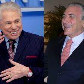 Silvio Santos, de cabelos brancos, brinca com novo visual: 'É a tinta do Temer'