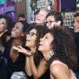 Marcello Novaes, Marcello Melo Jr., Cinara Leal, Erika Januza e Juliana Alves se divertiram na festa
