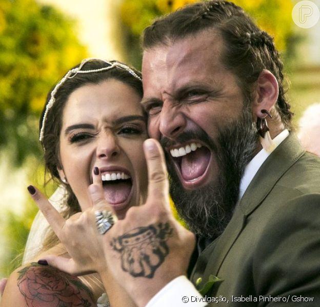 O casamento de Milena (Giovanna Lancellotti) e Ralf (Henri Castelli) foi o momento mais esperado do último capítulo da novela 'Sol Nascente', exibido em 21 de março de 2017