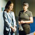 A mocinha Júlia (Nathalia Dill), de 'Rock Story', foi para a prisão depois de ser denunciada por Diana (Alinne Moraes) e se entregar para a polícia