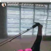 Grávida do 2º filho, Thais Fersoza pratica pilates: 'Me dando um trato'. Vídeo!