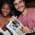 Guilherme Leicam e Aline Prado, a capa da edição de fevereiro da revista Playboy, em lançamento da revista no Rio de Janeiro