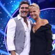 Junno Andrade acompanhou Xuxa na coletiva do programa 'Dancing Brasil'