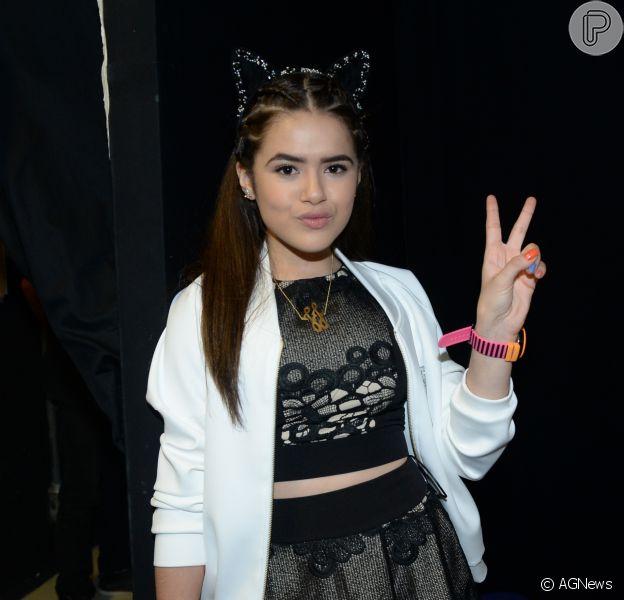 Maisa Silva lamentou ausência em show de Justin Bieber na noite de domingo, 3 de abril de 2017