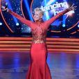 Xuxa apostou em um vestido longo e justo para o 'Dancing Brasil'