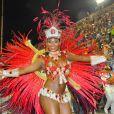 Rainha de bateria da Estácio de Sá, Luana Bandeira desfilou na Sapucaí na madrugada de domingo (2), pelo grupo de acesso A. 'Comigo não tem cansaço e não falto aos ensaios. Sou a última a sair do samba', disse. Luana foi eleita Musa do Carvanal do Rio de Janeiro no programa 'Caldeirão do Huck' em 2011