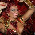 Viviane Araújo desfilou pelo sexto ano consecutivo como rainha da bateria do Salgueiro com