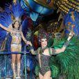 Claudia Raia e a filha, Sophia, desfilaram na Beija-Flor