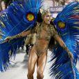 Rainha de bateria da Vila Isabel, Sabrina Sato veio fantasiada de onça, representando os animais que estão em risco de extinção
