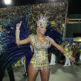 Juliana Alves Juliana desfilou pela Unidos da Tijuca com uma fantasia batizada de Ignição Automática. A agremiação homenageou Ayrton Senna