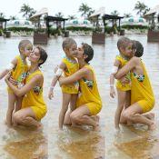 Isabella Santoni brinca com crianças em parque aquático: 'Juntos somos fortes'