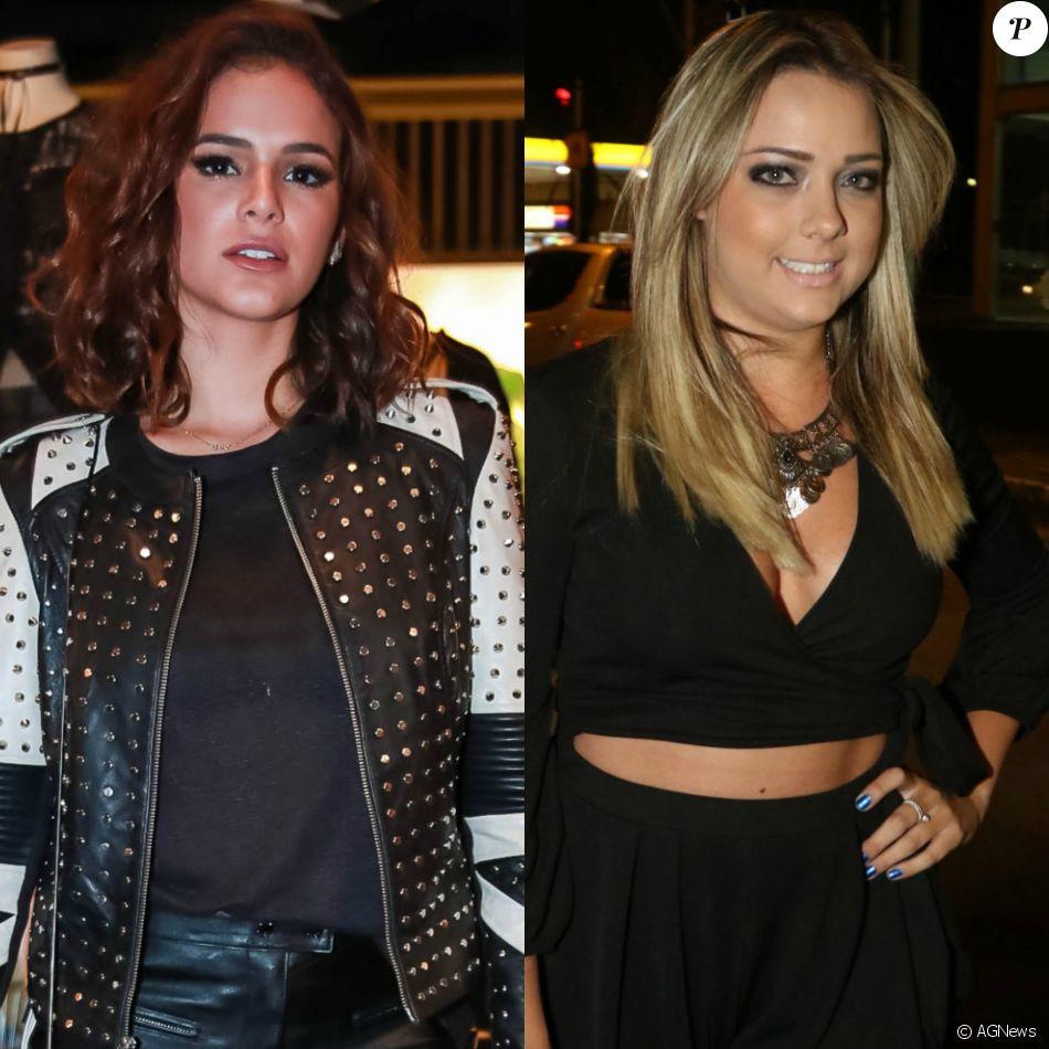 Bruna Marquezine e Carol Dantas, atual e ex de Neymar, vão a mesmo show de Bruno Mars na Espanha e tiram fotos parecidas na tarde desta sexta-feira, dia 07 de abril de 2017