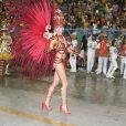 Bárbara Evans estreia na Sapucaí como musa da Grande Rio