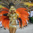 Roberta Rodrigues desfila pelo segundo ano na Grande Rio e usa fantasia que representa a fertilidade