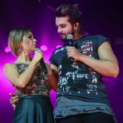 Luan Santana divide palco com Sandy em lançamento de turnê. Fotos!