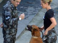 Paolla Oliveira grava com cachorro em batalhão para 'A Força do Querer'. Fotos!