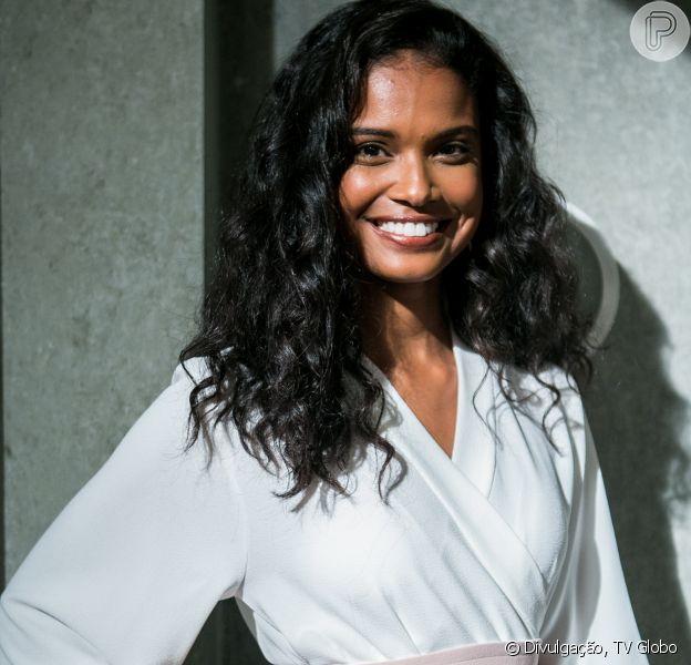 Aline Dias revelou no 'Video Show' que foi pega de surpresa com a gravidez