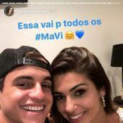 Ex-'BBB17' Vivian reencontra Manoel e prefere não rotular relação: 'Carinho'
