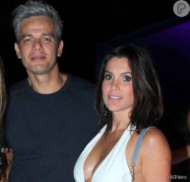 Otaviano Costa apoia Flávia Alessandra após crítica em foto com refugiados publicada neste domingo, dia 16 de abril de 2017