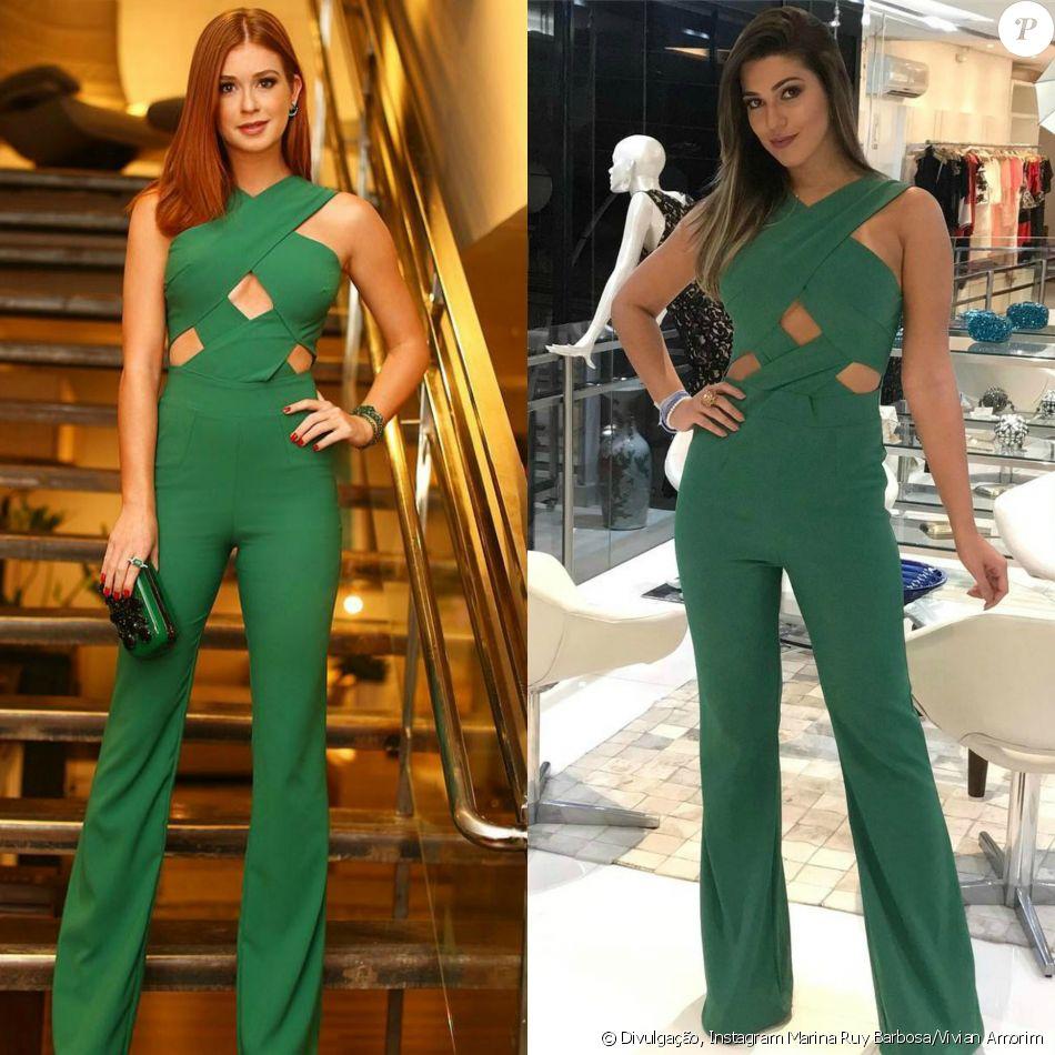 Marina Ruy Barbosa x Vivian, ex-BBB  quem vestiu melhor macacão de R ... 966125ee3c