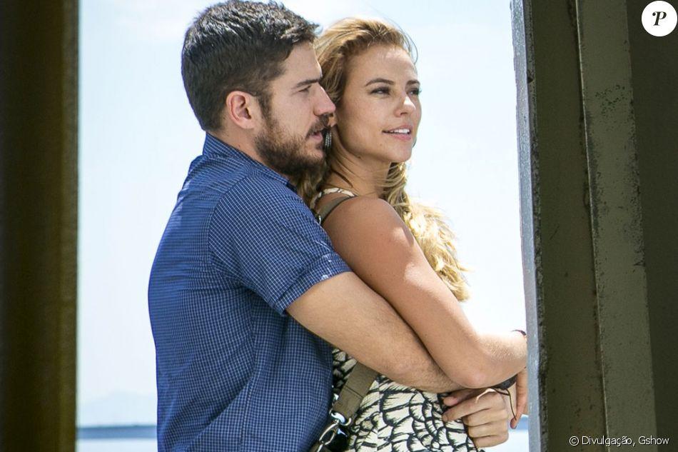 Zeca (Marco Pigossi) salva a vida de Jeiza (Paolla Oliveira), na novela 'A Força do Querer', em maio de 2017