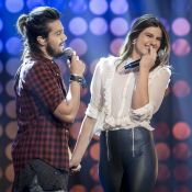 Luan Santana agita web após cantar com Camila Queiroz na TV: 'É pecado shippar?'