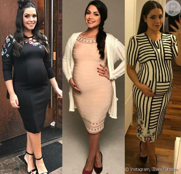 Confira o estilo de Thais Fersoza durante a segunda gravidez!