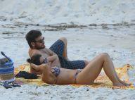 Fabiula Nascimento exibe boa forma na praia com namorado, Emilio Dantas. Fotos!