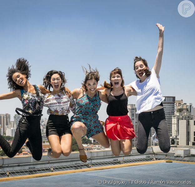 'Malhação - Viva a Diferença' terá cinco protagonistas. Heslaine Vieira fará Ellen; Ana Hikari dá vida a Tina; Gabriela Medvedovski é Keyla; Daphne Bozaski faz Benê; e Manoela Aliperti é Lica.