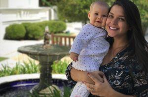 Thais Fersoza se surpreende com tamanho da filha, Melinda: '9 meses chegando'