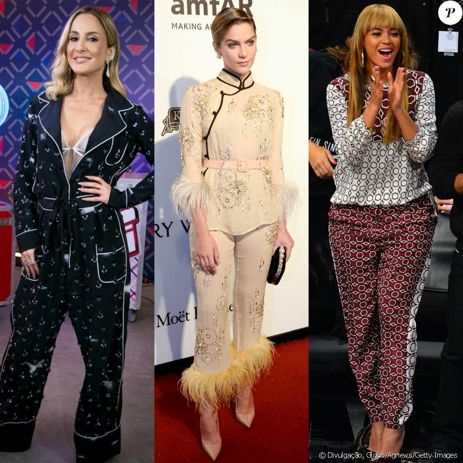 Pijama fashion é tendência em famosas brasileiras e internacionais. Veja looks em galeria publicada nesta sexta-feira, dia 28 de abril de 2017