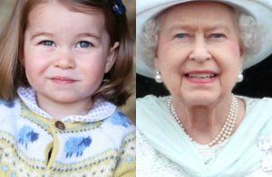 Semelhança entre princesa Charlotte e Rainha Elizabeth ganha web: 'Parece muito'