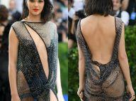 Kendall Jenner aposta em fio-dental com look transparente no MET Gala. Fotos!