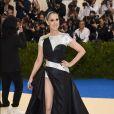 Céline Dion usou Versace no MET Gala, realizado no Museu Metropolitan, em Nova York, na noite desta segunda-feira, 1º de maio de 2017