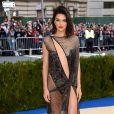 Kendall Jenner ousou no MET Gala com um look transparente La Perla, na noite desta segunda-feira, 1º de maio de 2017