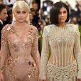 Kylie Jenner chamou atenção ao exibir a cintura fina no MET Gala 2017, realizado em Nova York, em 1º de maio de 2017