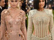 Kylie Jenner exibe cintura fina no MET Gala e fãs sugerem: 'Cirurgia'. Compare!