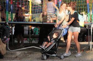 Fernanda Gentil passeia com namorada, Priscila Montandon, e filhos no Rio. Fotos