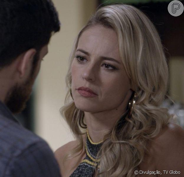 Zeca (Marco Pigossi) e Jeiza (Paolla Oliveira) voltam a brigar em festa de noivado, na novela 'A Força do Querer'